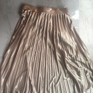 Pleated Rose Gold Skirt
